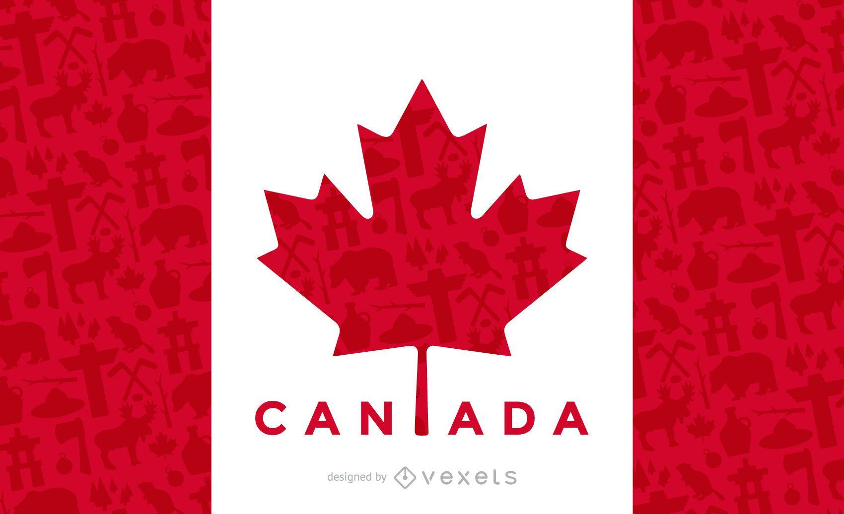 Desenho da bandeira canadense