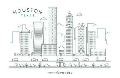 Skyline von Houston