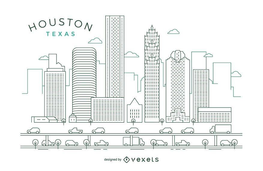 Horizonte do curso de Houston