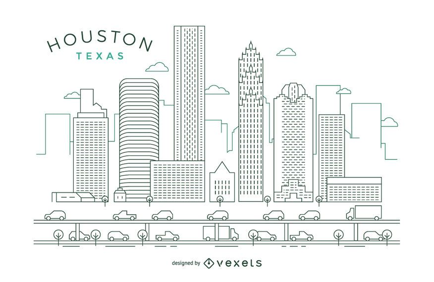 Houston stroke skyline