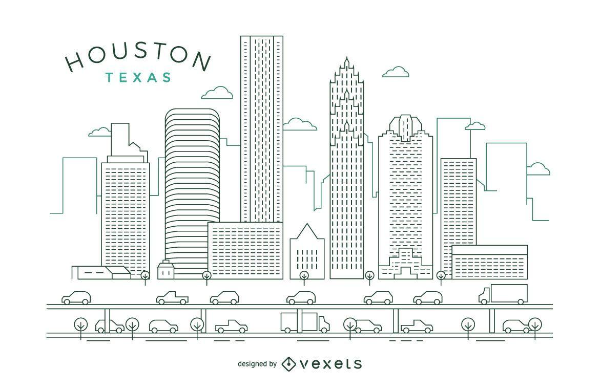Houston stroke skyline
