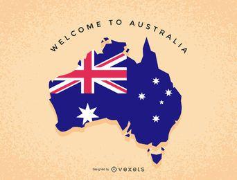 Mapa de ilustração de Austrália
