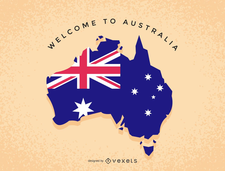 Australia illustration map