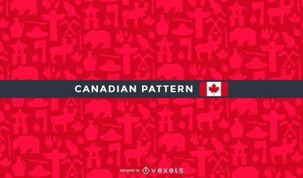 Patrón de Canadá con elementos tradicionales