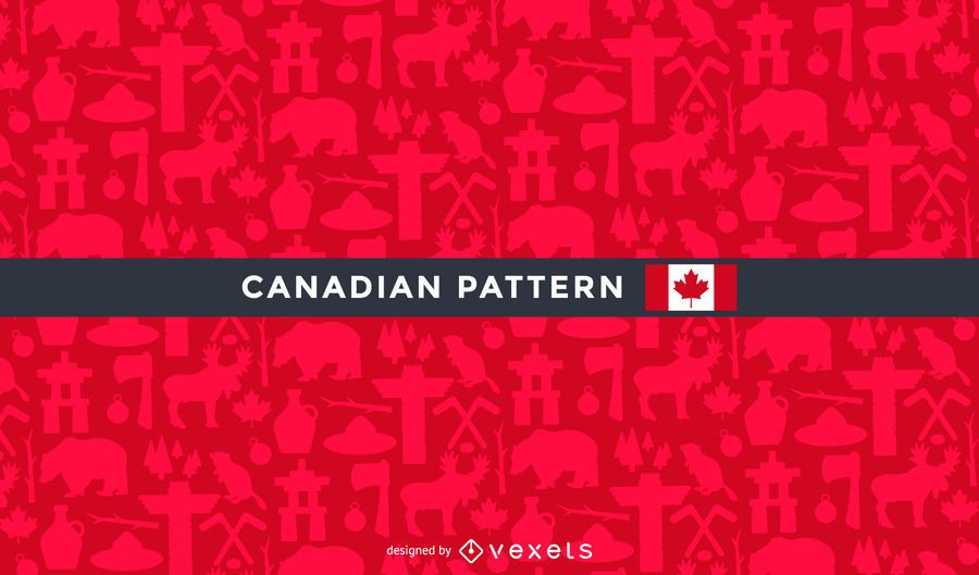 Canada pattern with traditional elements