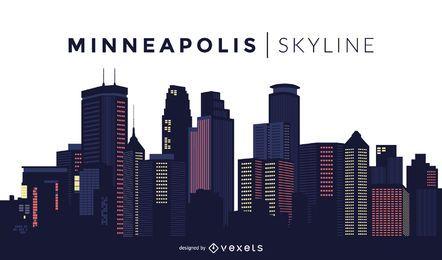Diseño del horizonte de Minneapolis