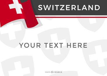 Diseño de la bandera del país suiza