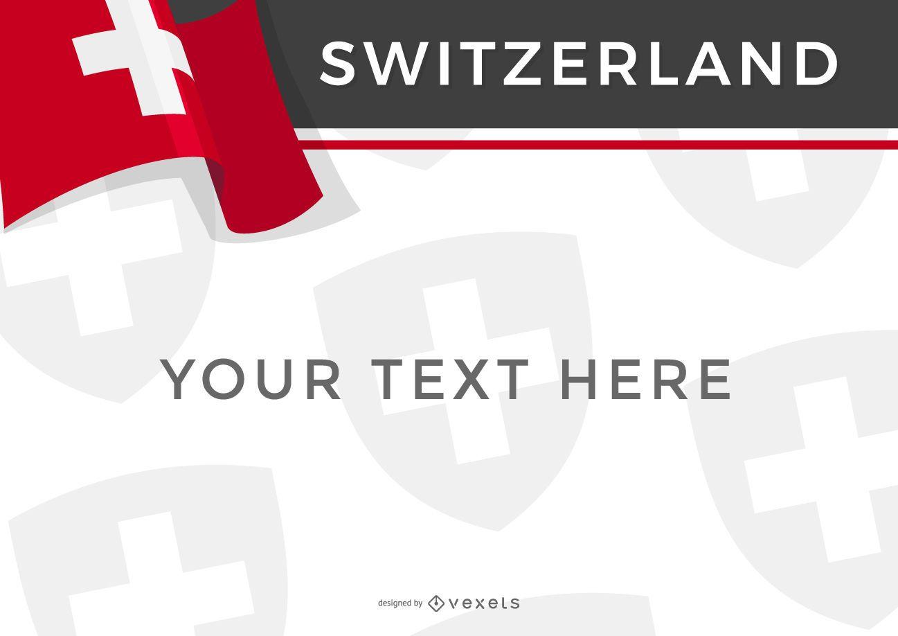 Switzerland country flag design
