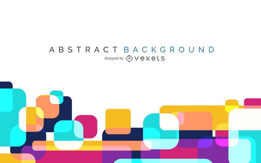 Colorful Abstract Background With Rounded Shapes Vector