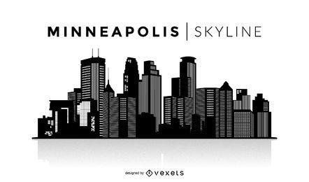 Silhueta do horizonte de Minneapolis
