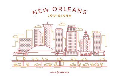 Horizonte de trazo de Nueva Orleans