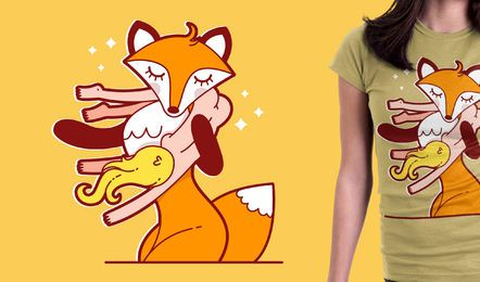 Fox tshirt design for merchandise