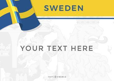 Bandera y diseño del país de Suecia