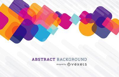 Fundo abstrato com design de formas coloridas