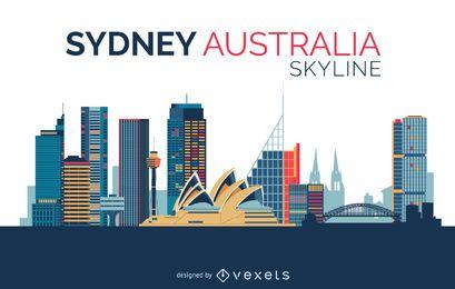 Desenho do horizonte de Sydney