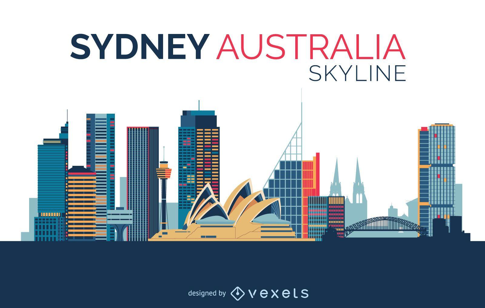 Sydney skyline design