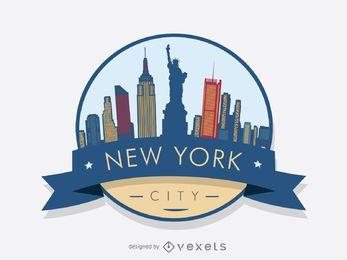 Distintivo de skyline de Nova York