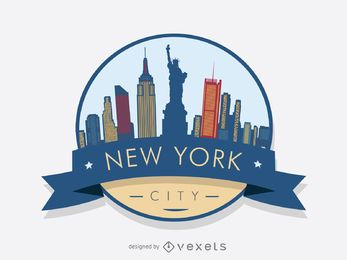 New York Skyline Badge