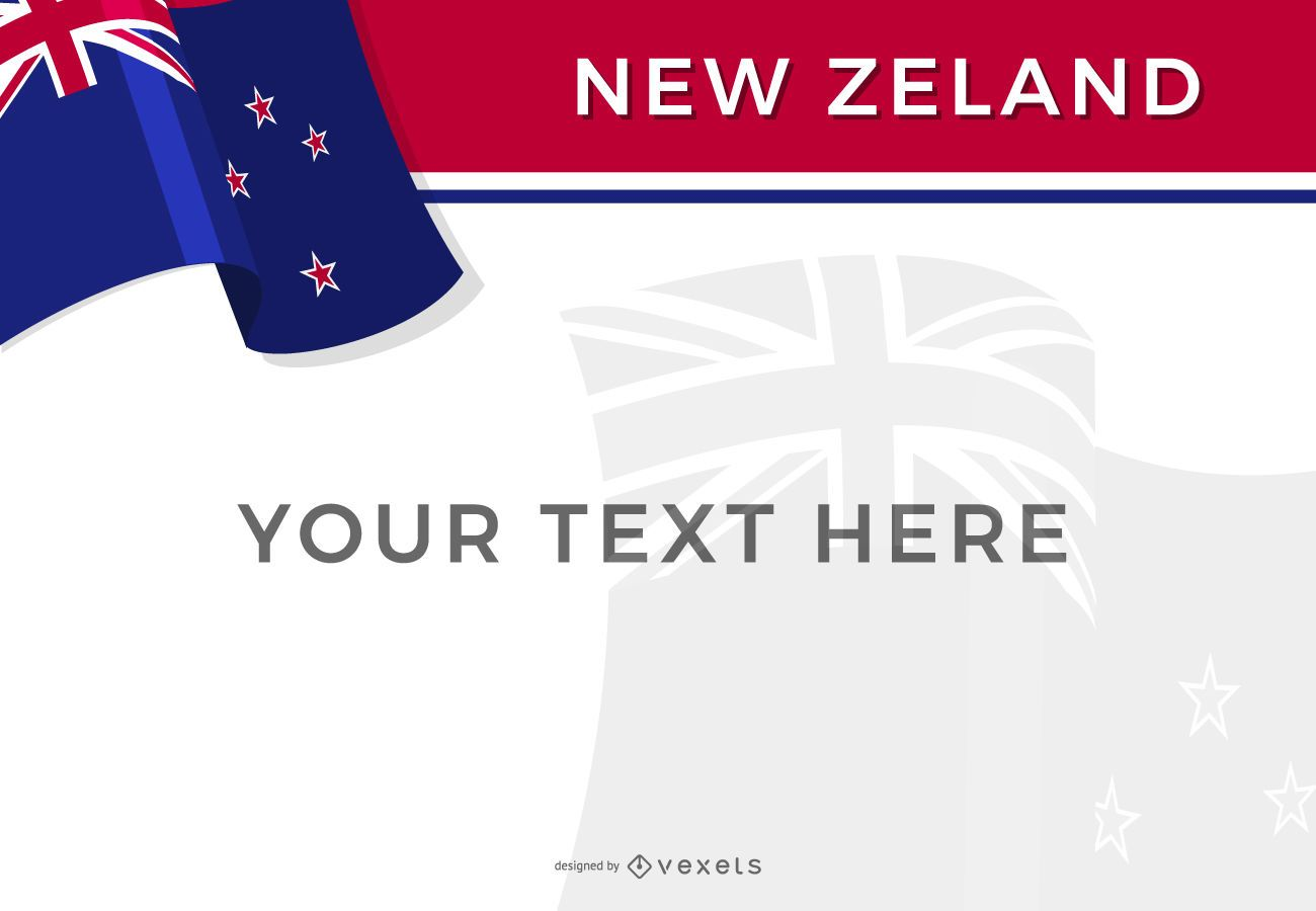 Plantilla de diseño de bandera de Nueva Zelanda