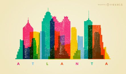 Skyline de Atlanta colorida