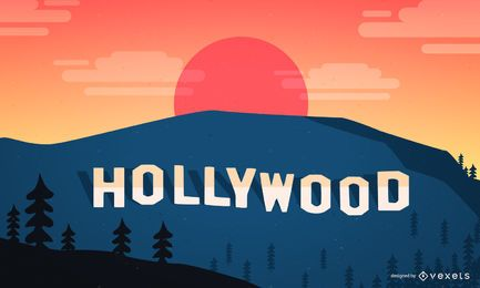 Hollywood-Landschaft mit dem klassischen Zeichen