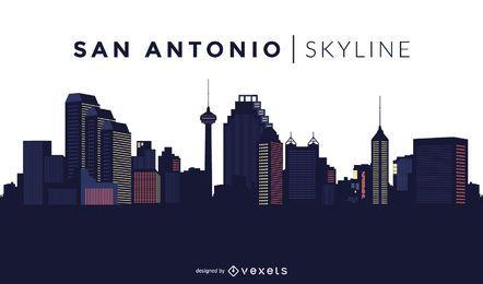 Desenho do horizonte de San Antonio