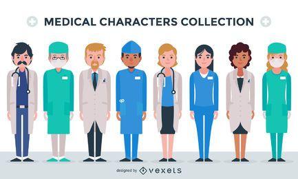 Coleção de personagens médicos