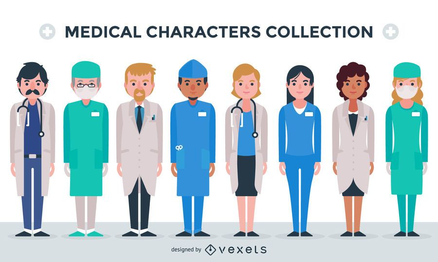 Medical characters collection