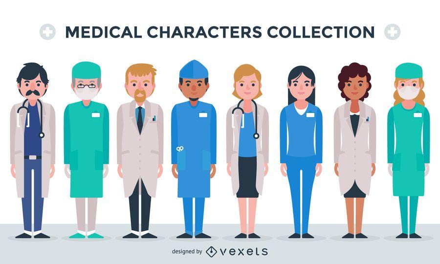 Medizinische Charaktersammlung