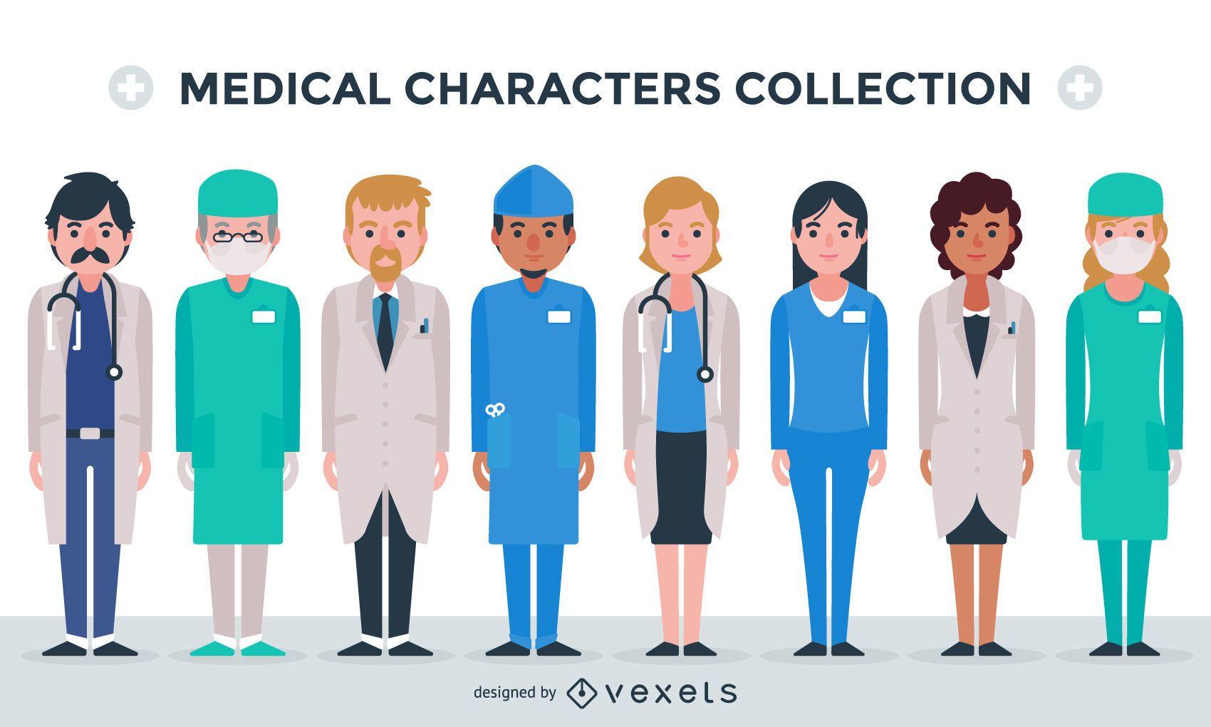 Sammlung medizinischer Charaktere