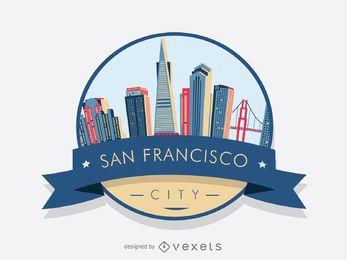 San Francisco Abzeichen Skyline