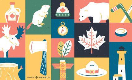 Canadá elemento de fondo