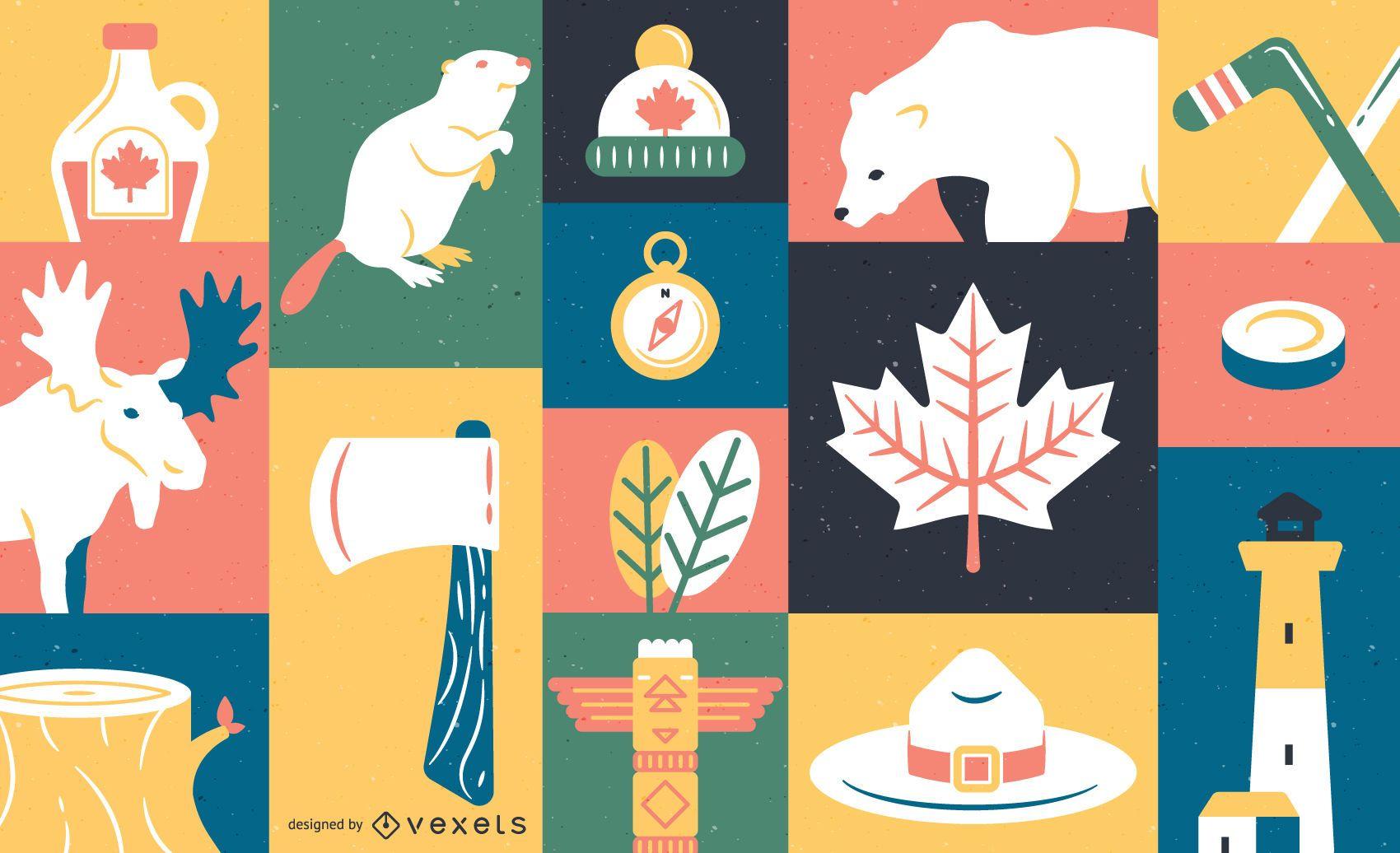 Plantilla de diseño de la bandera de Canadá - Descargar vector