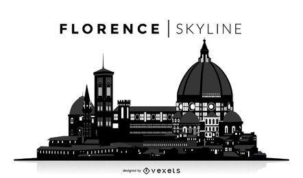 Silueta de Florencia horizonte
