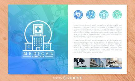 Design de modelo de folheto médico