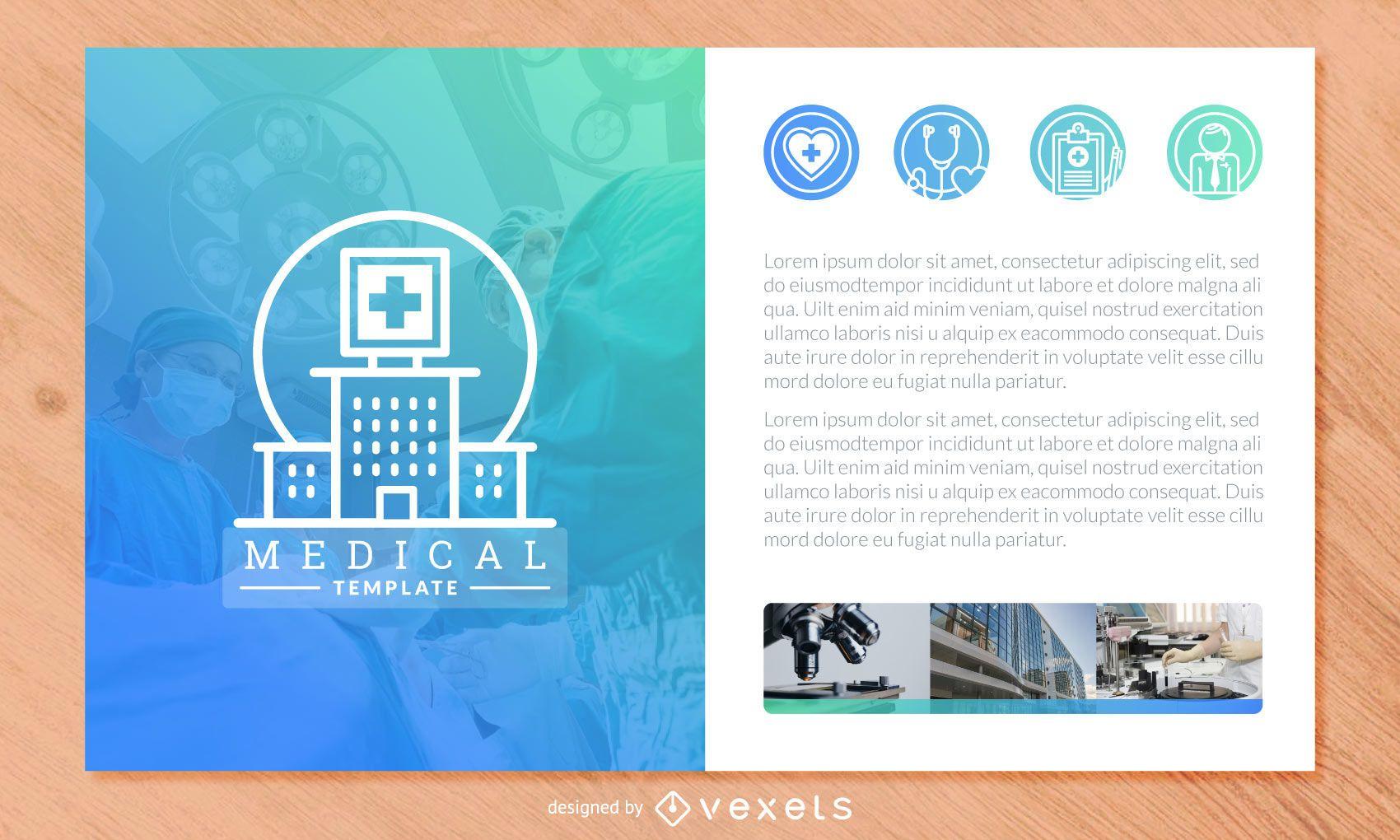 medical brochure template design vector download