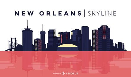 New Orleans skyline design