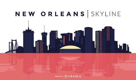 Projeto do horizonte de Nova Orleans