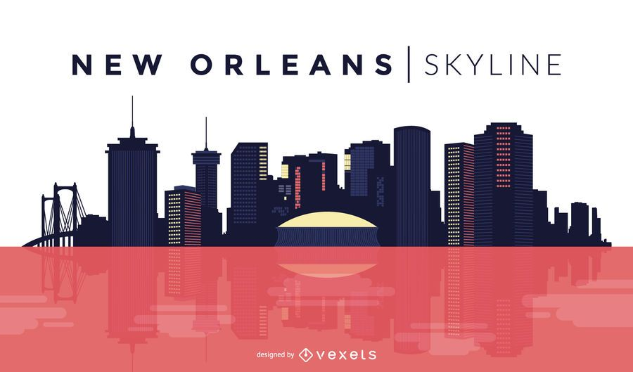 Diseño del horizonte de Nueva Orleans