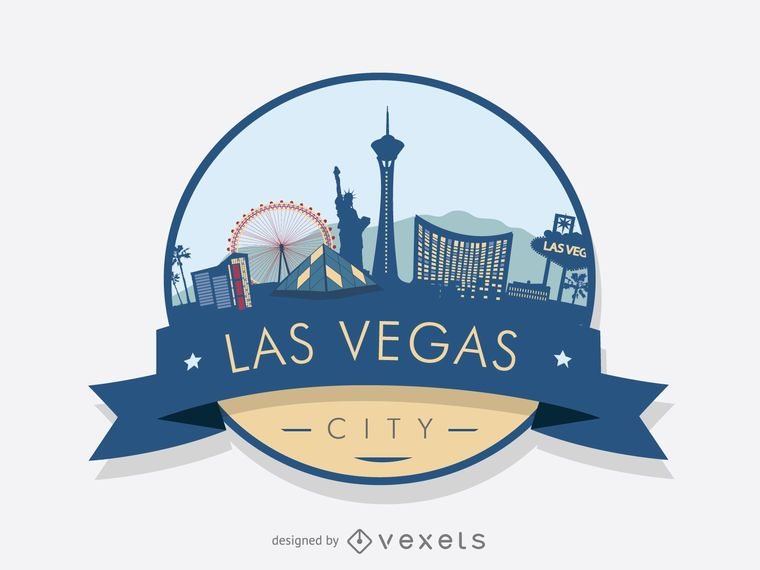 Las Vegas badge skyline