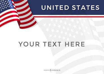 Estados Unidos plantilla de diseño