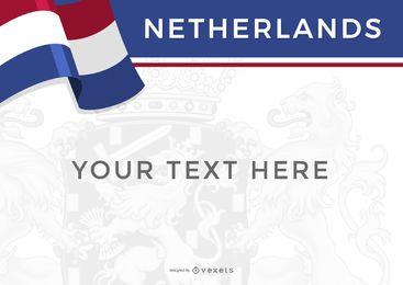 Bandera de Países Bajos diseño de país.
