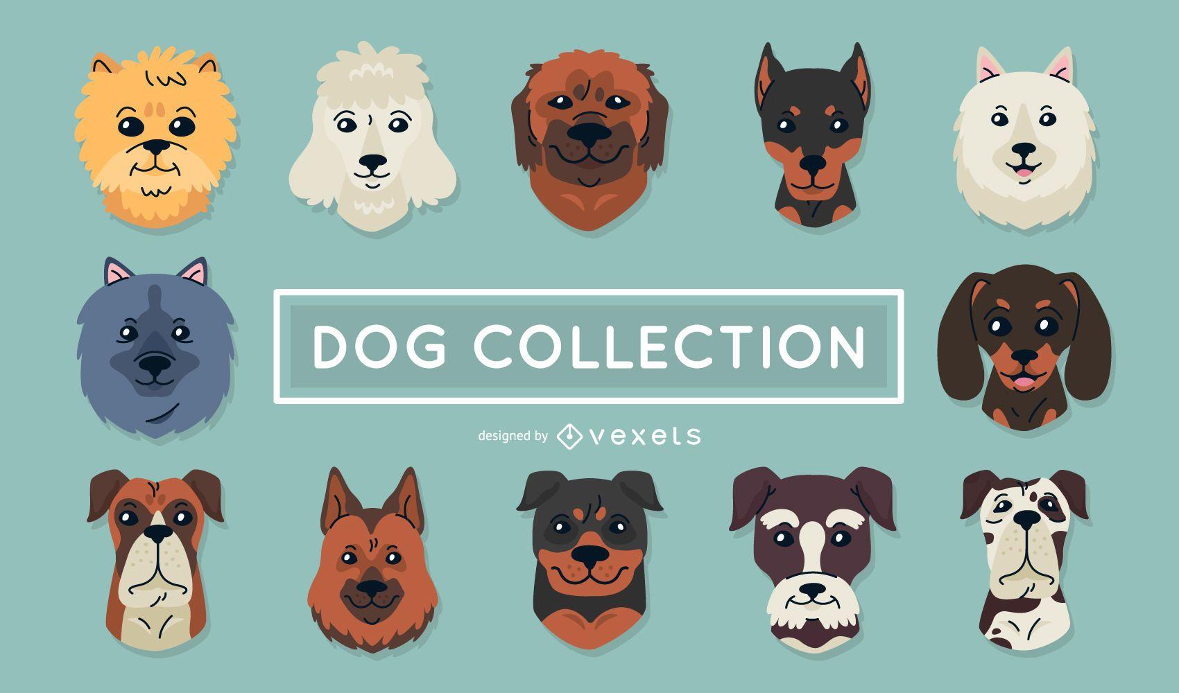 Hundeillustrationssammlung