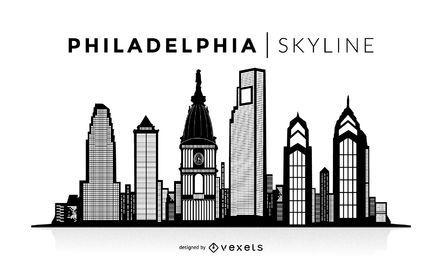 Silueta de Filadelfia horizonte