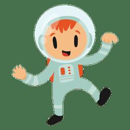 Traje de desenho animado de astronauta