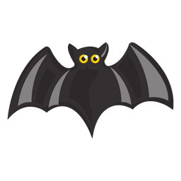Dibujos animados de murciélago negro