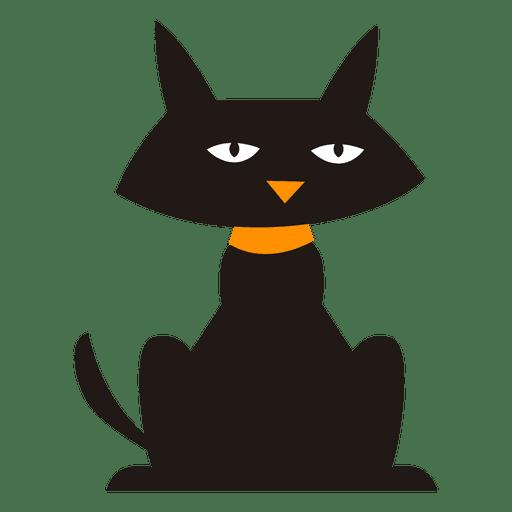 Black cartoon cat transparent png svg vector for Red transparente para gatos