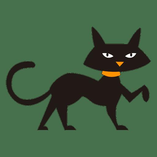 Gato negro caminando silueta de gato Transparent PNG