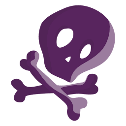 Cartoon purple skull
