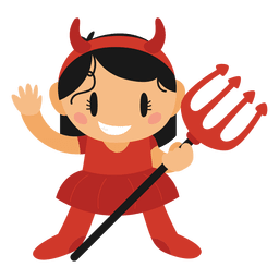 Devil halloween cartoon costume
